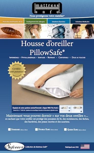 Housse anti punaise de lit Oreiller Mattress Safe